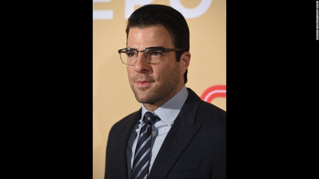 Actor Zachary Quinto, pictured, presented an award to fellow Pittsburgh native and CNN Hero Jim Withers.