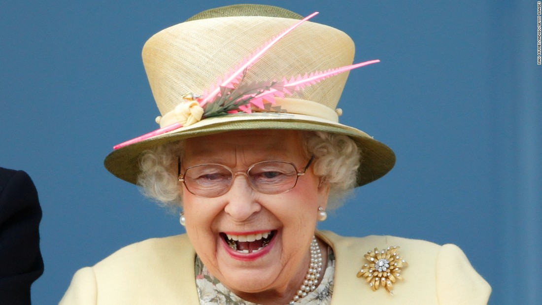 Britain's Queen Elizabeth II watches horse racing Saturday, June 6, in Epsom, England.
