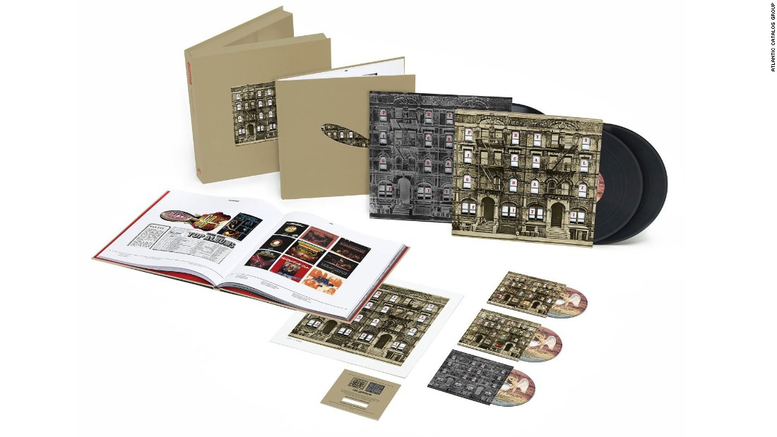 "Over the past couple years, Led Zeppelin has gotten the gold-plated treatment for its entire oeuvre, and 1975's ""Physical Graffiti"" may have the most expansive box -- only fitting, because it was the band's only double LP. The box includes three CDs, three LPs and a 96-page companion book."