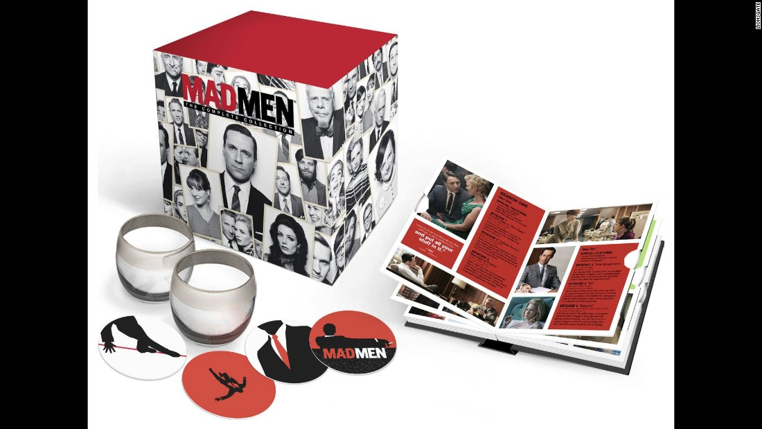 """Mad Men"" concluded its seventh season this spring with a marathon of its entire run. Now, that run is on DVD, complete with a pair of lowball glasses, some coasters and a folio for the discs. Imagine how Don Draper would pitch it."