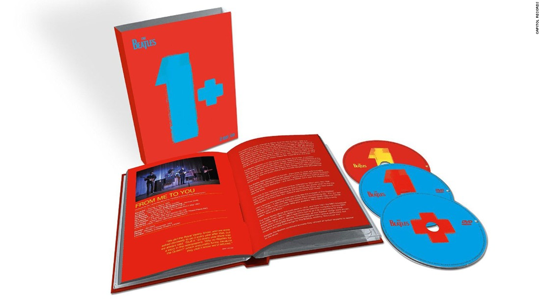 "In 2000, a Beatles collection simply called ""1"" pulled together the band's chart-topping hits on a single CD. It immediately became one of the group's biggest sellers, with 11 million copies sold in the U.S. alone. A new version of ""1,"" ""Beatles 1+,""  combines the now-remastered audio tracks on CD with two DVDs of videos."