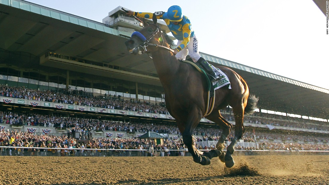 "Victor Espinoza rides American Pharoah to victory in the Belmont Stakes on Saturday, June 6. <a href=""http://www.cnn.com/2015/06/01/sport/gallery/american-pharoah/index.html"" target=""_blank"">American Pharoah</a> is the first horse to win the Triple Crown since 1978. <a href=""http://www.cnn.com/2012/06/07/worldsport/gallery/triple-crown-winners/index.html"" target=""_blank"">See all 12 horses who've won the Triple Crown</a>"