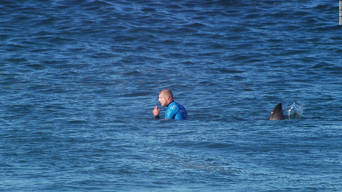 "In this still image taken from video, a shark attacks professional surfer Mick Fanning during a competition in Jeffrey's Bay, South Africa, on Sunday, July 19. Fanning <a href=""http://www.cnn.com/2015/07/20/world/shark-attack-mick-fanning/index.html"" target=""_blank"">fought off the shark</a> and avoided injury as the confrontation took place on live television."