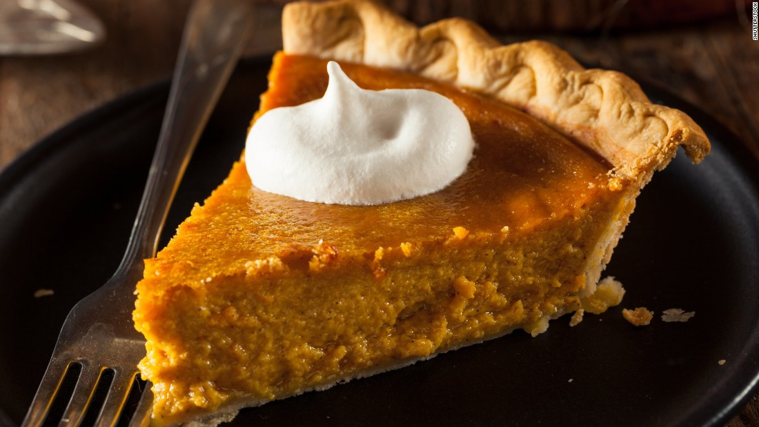 If pumpkin pie is your Thanksgiving dessert of choice, you are in luck. It is the lowest in calories of all the pies at 320 calories a slice, beating apple (411 calories) and cherry (486 calories). But there is still room for improvement -- use nonfat condensed milk instead of full-fat  in the filling.