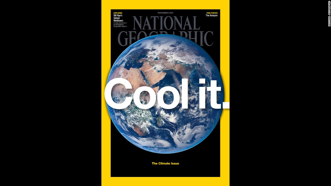 The November 2015 issue of National Geographic magazine.