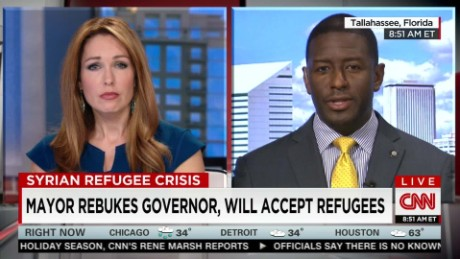 exp FL mayor rebukes governor, will accept refugees _00002001