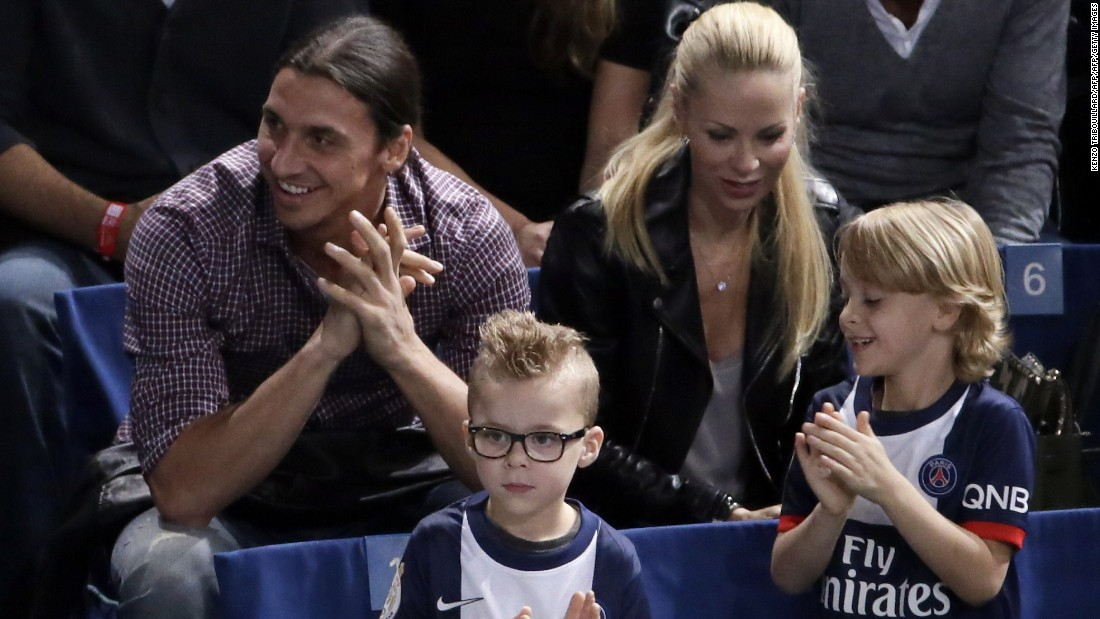 Despite being one of football's biggest stars, Ibrahimovic is a family man off the pitch -- raising two children with his wife, Helena Seger.
