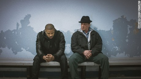 "Michael B. Jordan and Sylvester Stallone in ""Creed."""