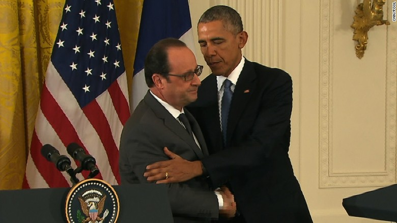 Obama, Hollande pledge solidarity to fight ISIS
