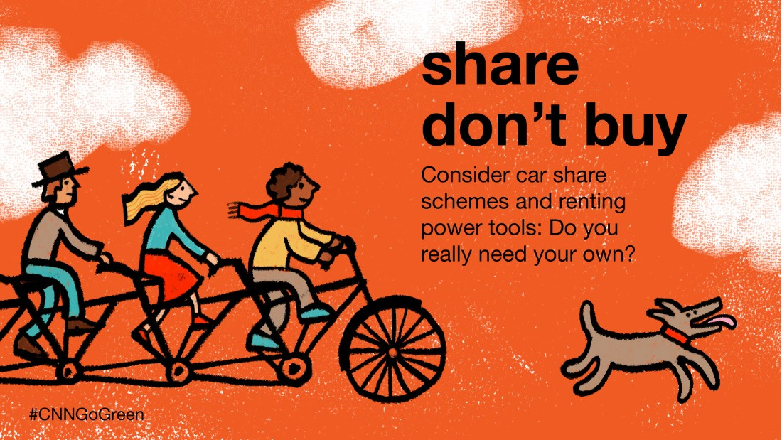 "The number of vehicles available through car-sharing schemes looks set to increase -- helping you save money while also saving the planet. With handbags, outfits, power tools and bikes all available to borrow, the ""shareconomy"" is in full swing."