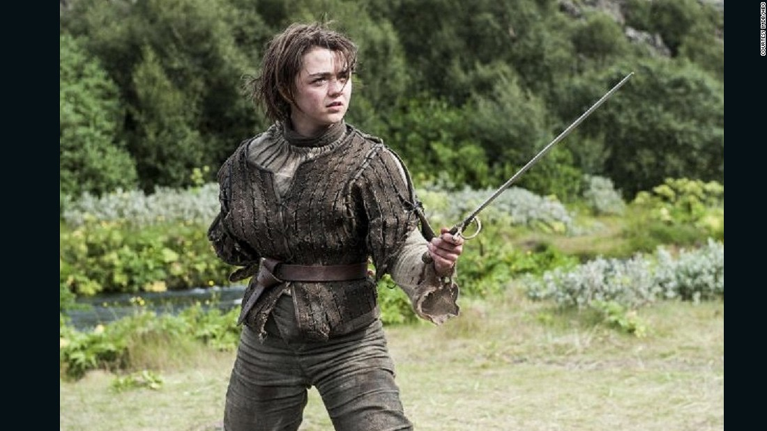 """Amazons seem to be everywhere these days -- from ""Xena: Warrior Princess,"" to the animated film ""Mulan,"" the shield maidens in the ""Vikings,"" and the young swordswoman in ""Game of Thrones,"" said Mayor.<br />Age is no barrier for talented swordswoman Ayra Stark, played by British actress Maisie Williams (pictured), in the ""Game of Thrones"" series."