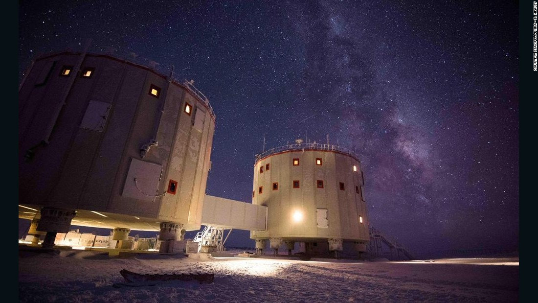 Scientists are using the Concordia research station in Antarctica to research the effects of long space missions. In winter, no sunlight is seen for four months and the typical crew of 12 live in complete isolation.