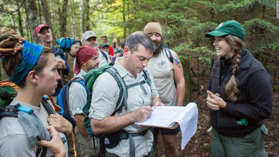 "Sean Gobin, a former U.S. Marine, helps support fellow combat veterans as they ""walk off the war"" on  the Appalachian Trail and other long-distance hikes throughout the country."