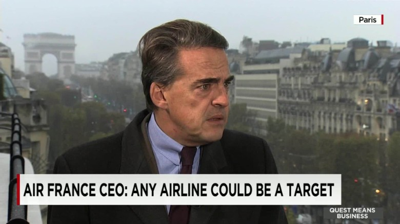Air France CEO: Any airline could be a target