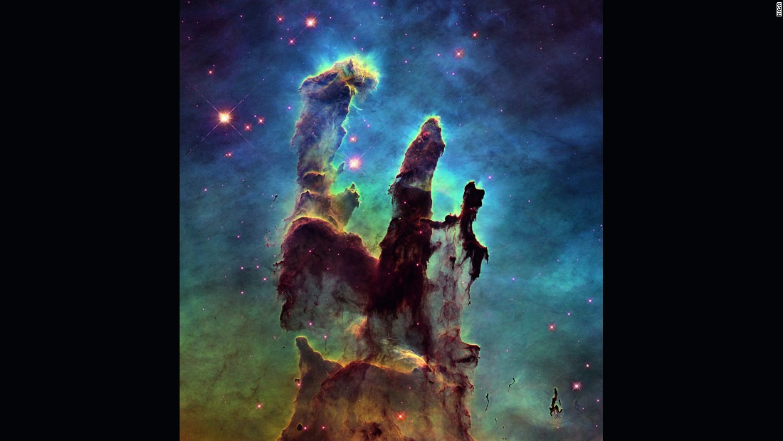 "<strong>January 6:</strong> NASA releases a stunning new image of the so-called <a href=""http://www.cnn.com/2015/01/06/tech/nasa-pillars-creation/index.html"" target=""_blank"">Pillars of Creation,</a> one of the space agency's most iconic discoveries. The giant columns of cold gas, in a small region of the Eagle Nebula, were popularized by a similar image taken by the <a href=""http://www.cnn.com/2015/04/19/photos/cnnphotos-hubble-space-telescope-25th-anniversary/"" target=""_blank"">Hubble Space Telescope</a> in 1995. <a href=""http://www.cnn.com/2014/01/10/tech/gallery/wonders-of-the-universe/index.html"" target=""_blank"">See other wonders of the universe</a>"