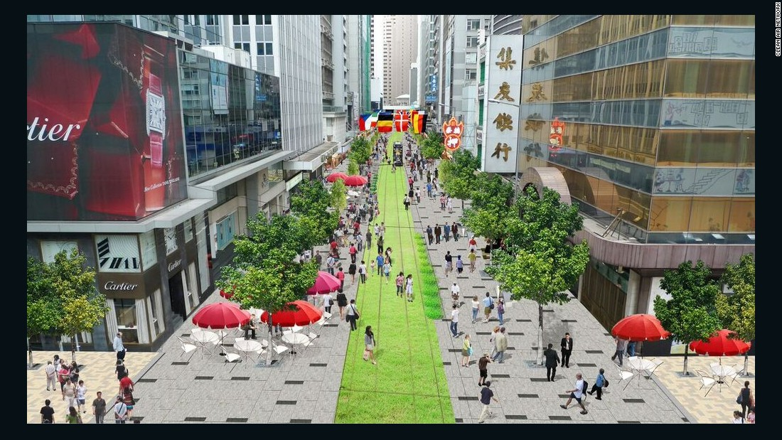 Hong Kong is mulling over plans to make one section of its bustling downtown a bit more eco-friendly. A range of civic groups have proposed to make Des Veoux Road in Central, a major city artery, pedestrian-only.