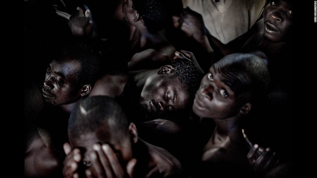 <strong>May 26:</strong> Prisoners sit in an overcrowded cell in Blantyre, Malawi. Overcrowding is a major problem in Malawian jails.