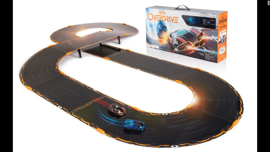 The action on this track will remind you of the old slot-racing games -- without the worry of your cars flying off into the wall. That's because you control the cars with your smartphone. List price: $149.99.