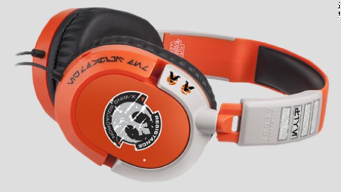 "These great-sounding gaming headsets from Turtle Beach feature ""Star Wars"" designs. Join the Empire's elite Sandtrooper force or take to the skies as a X-Wing pilot above Jakku. List price: $49.95 for the X-Wing model; $99.99 for the Sandtrooper."