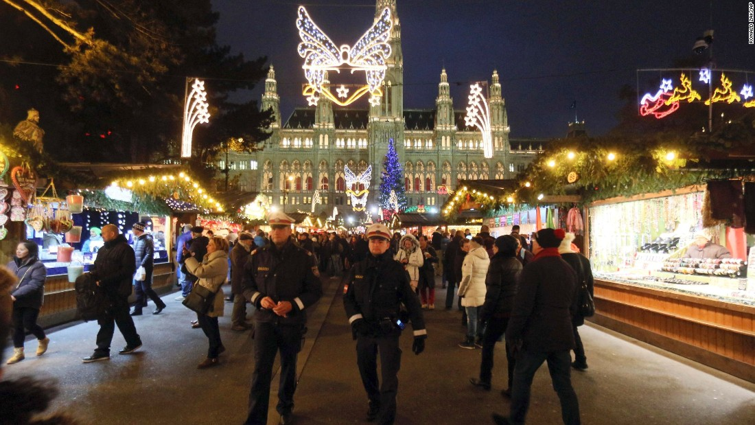 In Vienna, Rathausplatz in front of City Hall is transformed into a sparkling Christmas market.