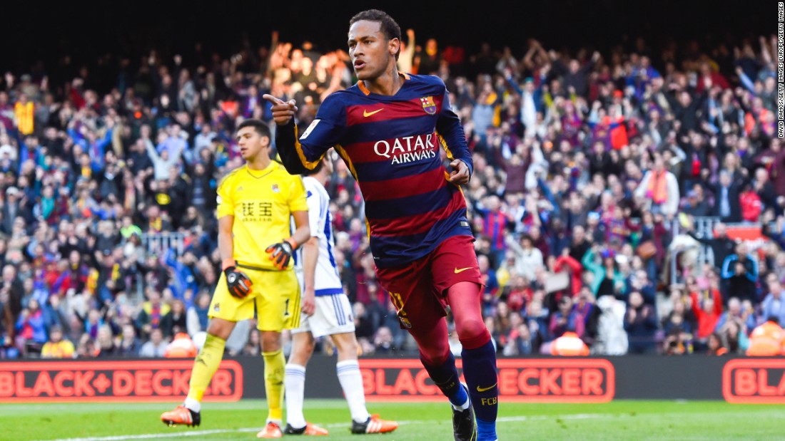 Neymar has been in electric form this season and has helped Barcelona blow away the opposition in La Liga and in Europe. The 24-year-old, who is part of a lethal trio with Luis Suarez and Lionel Messi, has scored 22 goals so far this season.