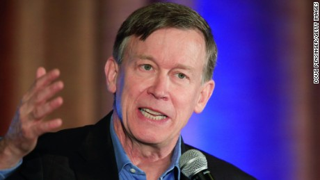 Colorado Gov. John Hickenlooper (D-CO) addresses the audience at the Colorado Energy Forum presented by the Consumer Energy Alliance on October 14, 2014 in Westminster, Colorado.
