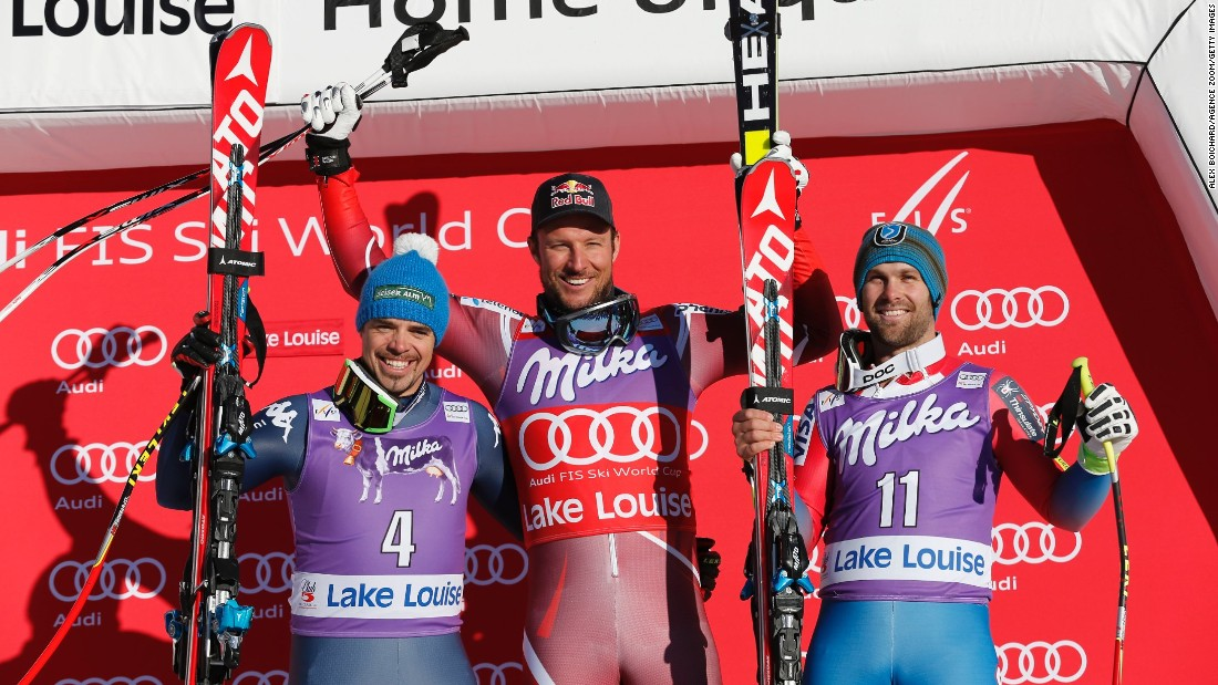An Olympic champion in 2010, Svindal won back-to-back World Cup events in Canada in November 2015 -- after missing almost every race for 12 months. The Norwegian won the season's opening men's downhill race in Lake Louise, Alberta, beating Italy's Peter Fill by just a hundredth of a second.
