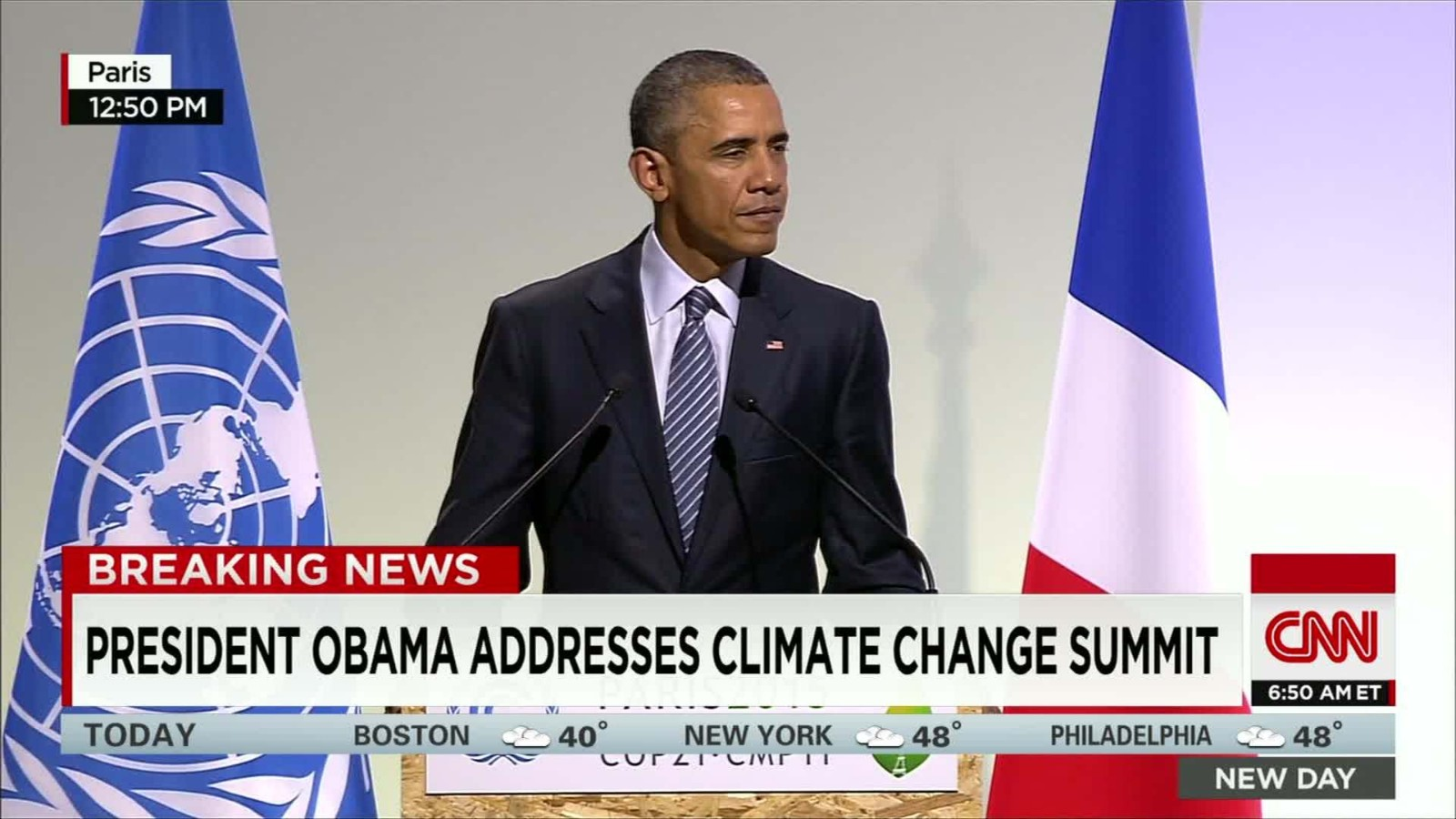 Obama on local weather: 'A pause in American management'