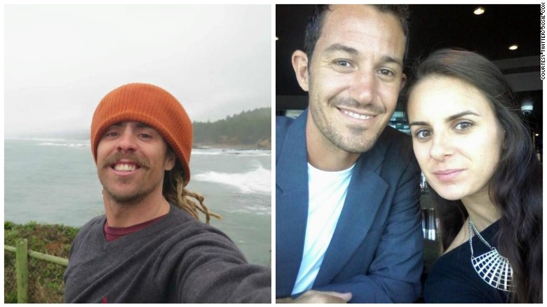 Burned bodies, van found in search for missing surfers