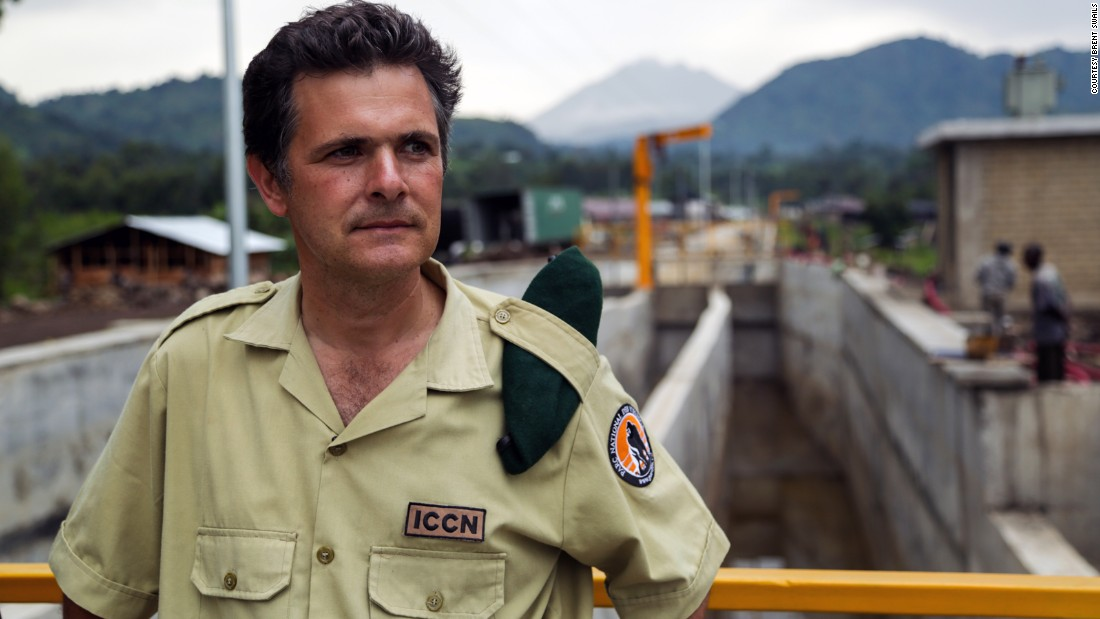 "Park Director Emmanuel de Merode looks out over Virunga's ambitious 200 million dollar clean energy project. ""We are on the frontline in terms of trying to protect that last incredible piece of forest. And of course its role in terms of stabilizing climate, its role in terms of addressing climate change issues is fundamental."""