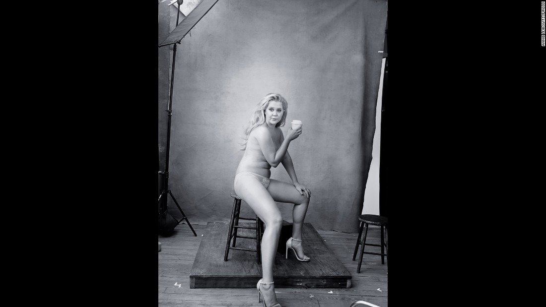 Comedian Amy Schumer tweeted her photo from the calendar.