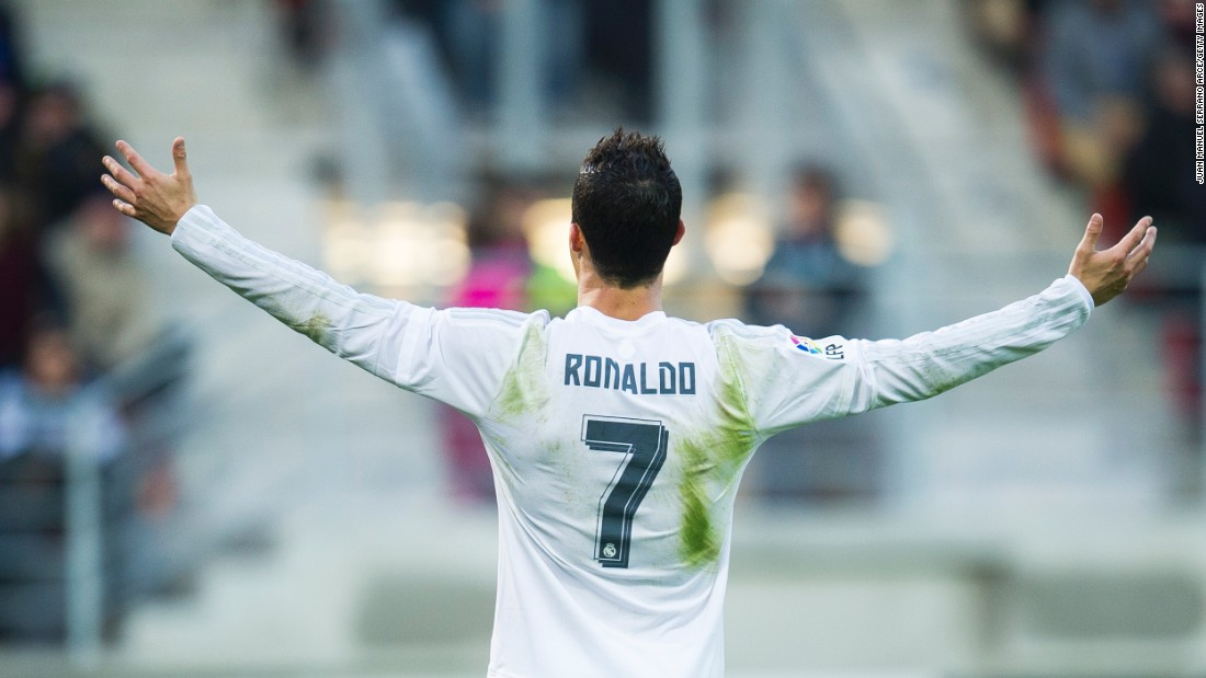 <strong>November 29, 2015: </strong>Ronaldo scores a late goal from the penalty spot as minnows Eibar are beaten 2-0 to ease the pressure on coach Rafa Benitez after the 4-0 home defeat to Barca.