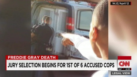 exp Jury selection begins for 1st accused cop in Freddie Gray case _00002001