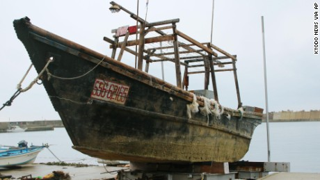 This ship was found in mid-November floating off Noto peninsula off the coast of Ishikawa prefecture.