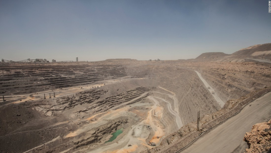 The main pit of the Jwaneng diamond mine in Botswana, November 2015