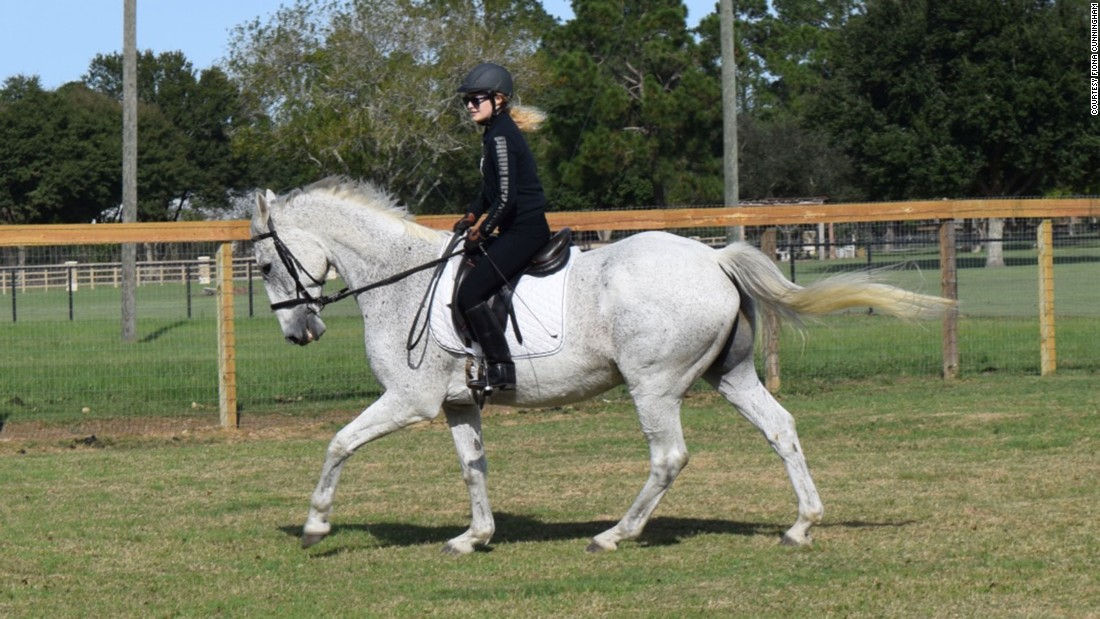 Ever since she was little, Sarah's goal has been to ride horses as her mother would do. Even when she suffered from complications because of her disease, Sarah would sit on her horse. Now, Sarah can ride her horse, Stirling Bridge, anytime she wants.
