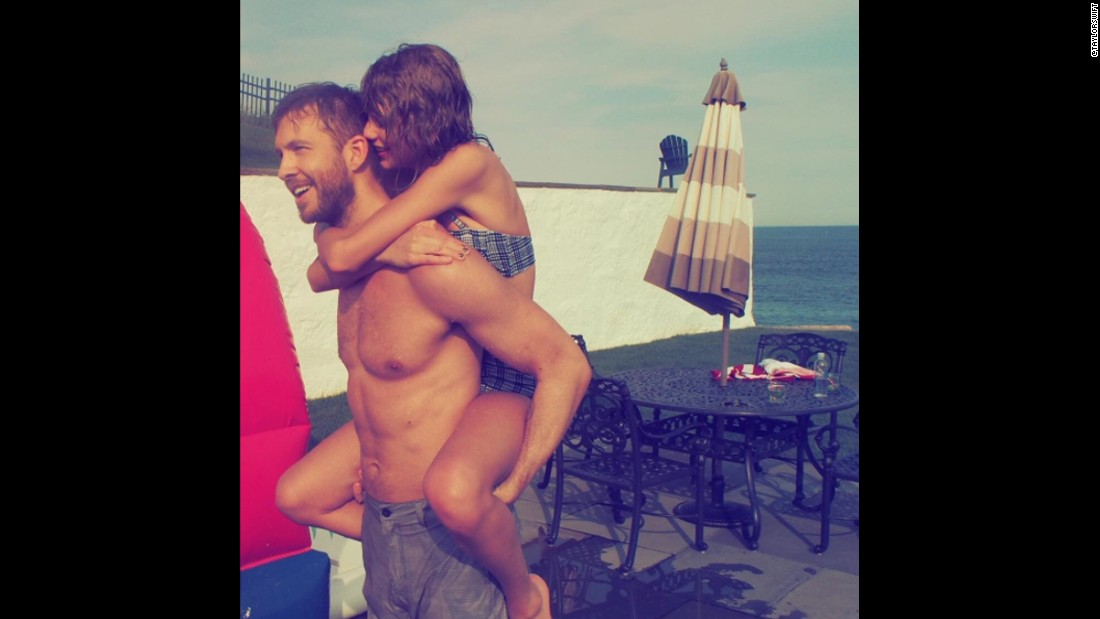 "With 2.5 million likes, this photo of <a href=""https://www.instagram.com/p/4sU2r9jvJG/"" target=""_blank"">Swift and her DJ boyfriend Calvin Harris</a> is third on the most-liked list."