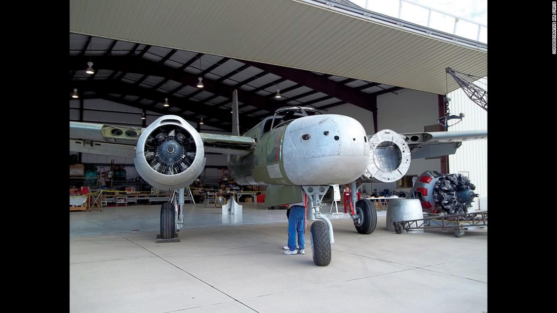 After 18 years, this Douglas A-26 Invader is nearing restoration. Aircraft manufacturer Boeing donated new spar caps, important structural  components for the wings. The Invader also needs a serious paint job. By spring 2017, the restoration crew based in Edmund, Oklahoma, expects to complete their long project.