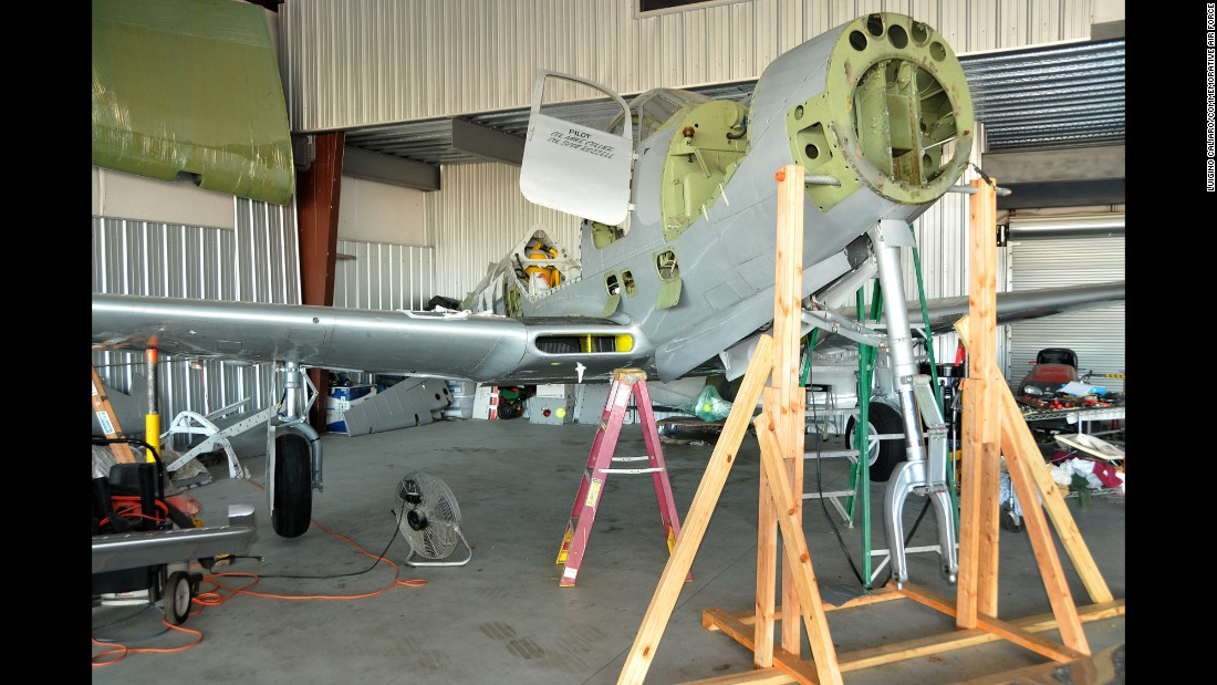 The CAF Kingcobra restoration team, based in Houston, aims to raise $30,000 to rebuild the plane's gearbox. It's expected to be completed in spring of 2016.<br />