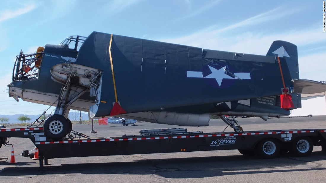 This is the Avenger that the CAF wants to rescue. Based in Grand Junction, Colorado, it's expected to be restored sometime in 2016.