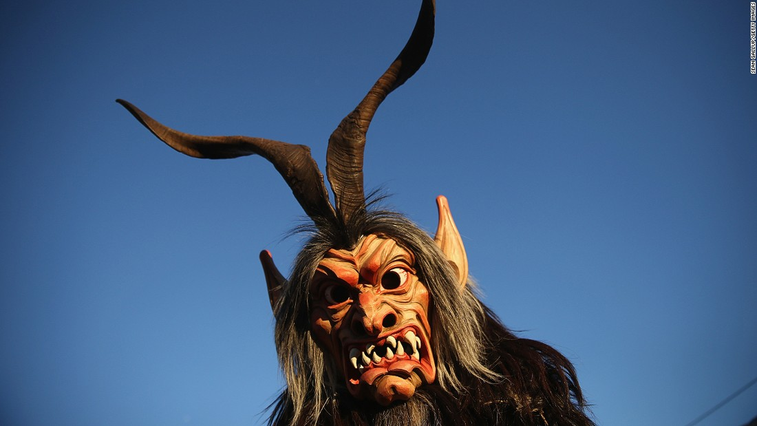 Across Austria and Bavaria, in December people dress up as terrifying Alpine beasts known as krampuses and rampage through the streets in search of naughty children in need of punishment.