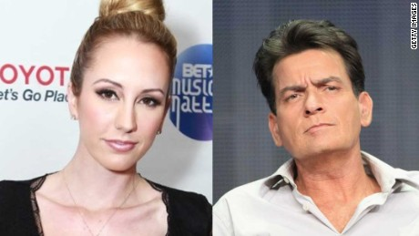 Charlie Sheen and former fiancée Scottine Ross, a.k.a. Brett Rossi.