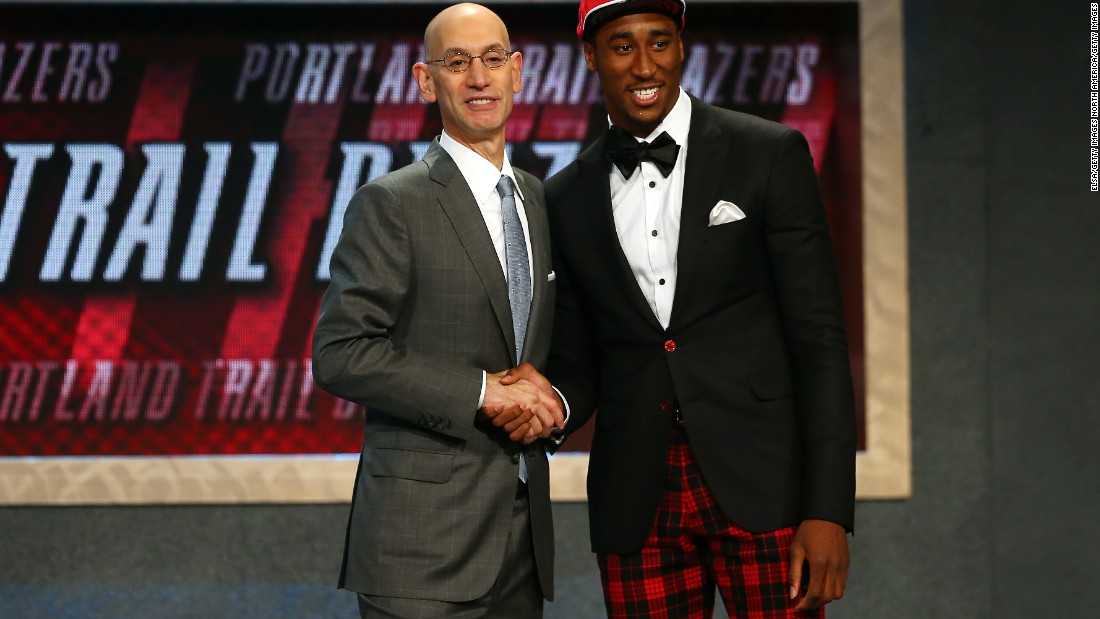 Rondae Hollis-Jefferson, selected 23rd by the Portland Trail Blazers,  looks like he may have been planning a golf trip.