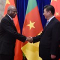 cameroon china handshake