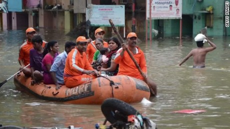 Devastating floods swamp south India
