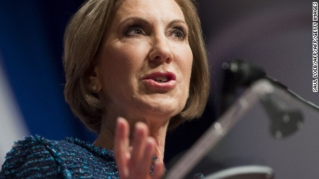 Republican Presidential hopeful Carly Fiorina speaks during the 2016 Republican Jewish Coalition Presidential Candidates Forum in Washington, DC, December 3, 2015. AFP PHOTO / SAUL LOEB / AFP / SAUL LOEB        (Photo credit should read SAUL LOEB/AFP/Getty Images)