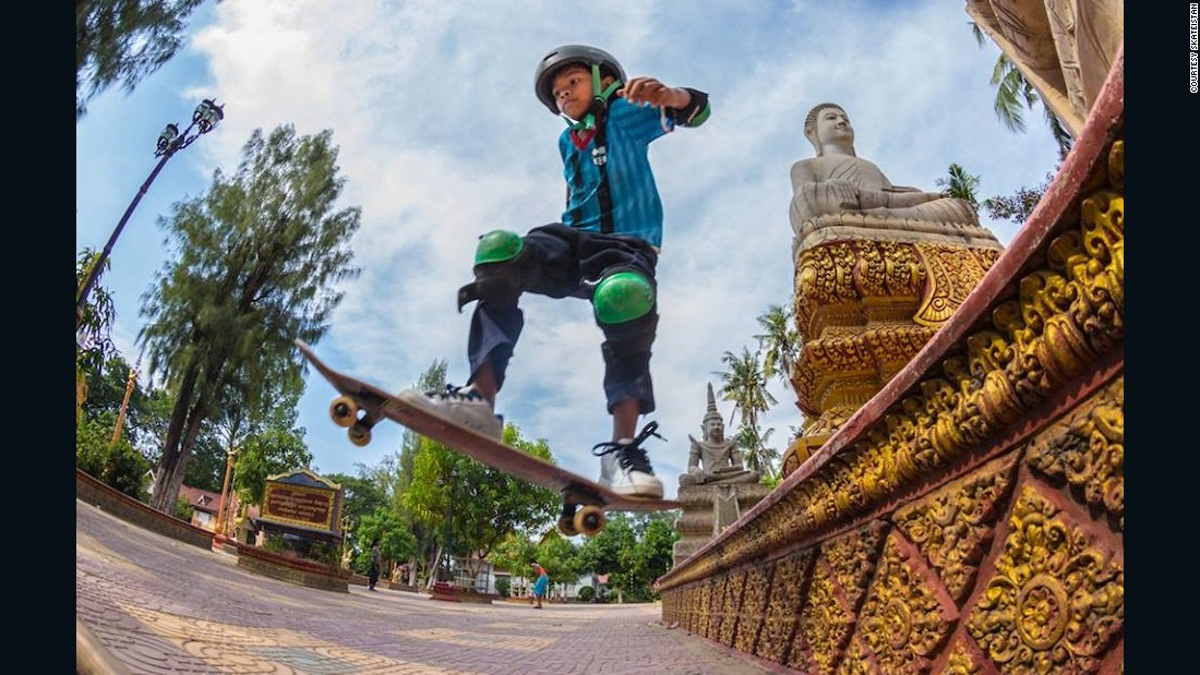 "In 2012 Skateistan opened its facility in Phnom Penh, Cambodia. It now works with 150-200 young people each week. ""Skateboarding is a resourceful culture,"" says Gregor. ""You're making your world out of just a plank of wood with a couple of wheels on it."" <br />"