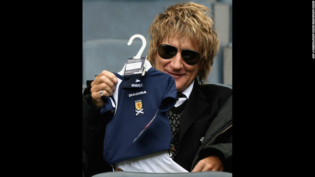 Rod Stewart was 66 when he welcomed his seventh child, Aidan Patrick Stewart.