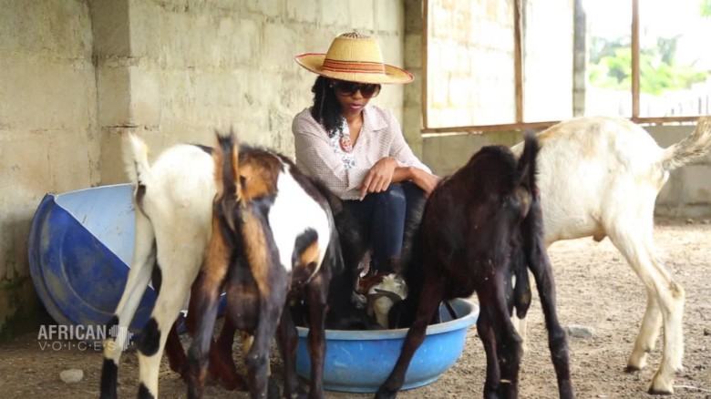Goat farmer finds 'side hustle' as handbag designer