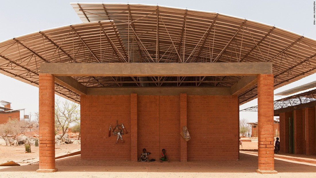 Burkina Faso-born architect Francis Kere originally designed the Opera Village as an arts center. However, a devastating flood in the country changed its remit. The building serves primarily as a school, educating up to 300 students, though with a focus on art.